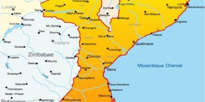kart og avstander Mosambik kart   Kart Mosambik (Øst Afrika   Afrika) kart og avstander